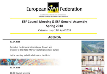 ESF Council Meeting & General Assembly 2018